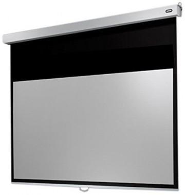celexon Leinwand Rollo Professional Plus 160 x 100 cm | Rollleiwand | ideal als Heimkino-Leinwand oder manuelle Business-Leinwand -