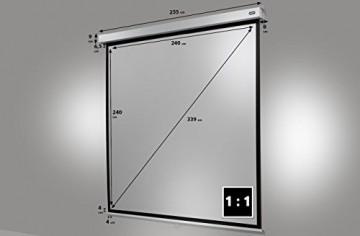 CELEXON Rollo Pro Plus 240 x 240 cm Manuelle Leinw -