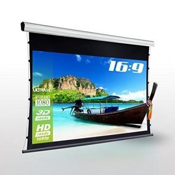eSmart Germany Professional Tension-Leinwand TATENSO HIGH CONTRAST GRAU | Gesamtbreite 250 cm | Darstellungsfläche 221 x 125 cm (100
