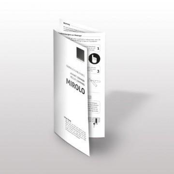 eSmart Germany Rollo Leinwand MIROLO   Gesamtbreite 262cm   Darstellungsfläche 244cm x 183cm   4:3   mit Vollmaskierung   mit Vollmaskierung   Modell 2016 -