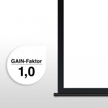 eSmart Germany Rollo Leinwand MIROLO | Gesamtbreite 231cm | Darstellungsfläche 213cm x 213cm | 1:1 | Modell 2016 -