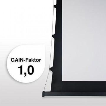 eSmart Germany Tension Leinwand TATENSO HIGH CONTRAST GRAU | Gesamtbreite 269 cm | Darstellungsfläche 221 x 125 cm (100
