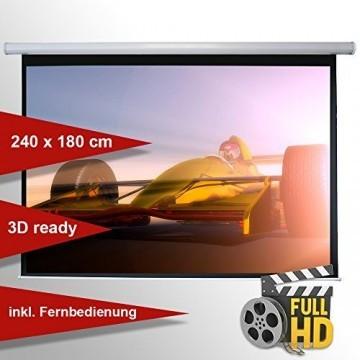 Leinwandking Motorleinwand 240 x 180cm,Leinwand Format 4:3, Heimkino Leinwand, Beamerleinwand,3D Leinwand,Full HD Leinwand, elektrische Leinwand -