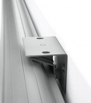 Medium Rolloleinwand Design-Rollo manuell 180x131cm mit schwarzem Rand (Format (16:9) -