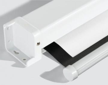 Medium Rolloleinwand Premium 234x176cm mit schwarzem Rand (Format 4:3) -