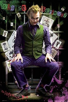 Batman – Dark Knight – Joker Jail – Filmposter Kino Movie – 61 x 91,5 cm + 1 Ü-Poster - 1