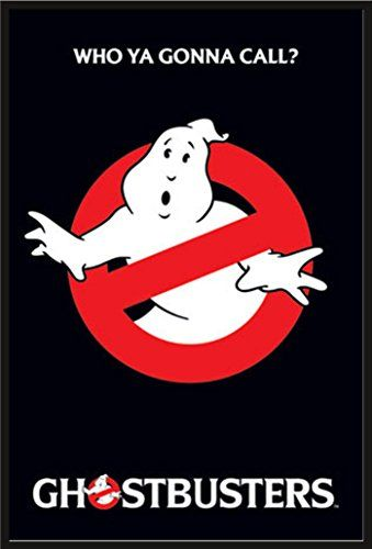 Ghostbusters - Logo - Filmposter Kino Movie - Grösse 61x91,5 cm + Wechselrahmen der Marke Shinsuke® Maxi aus Kunststoff schwarz - mit Acrylglas-Scheibe. -