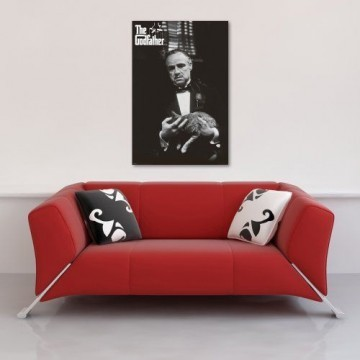 Godfather, The - Marlon Brando, Cat - Filmposter Kino Movie schwarz-weiss Foto Der Pate - 61x91,5 cm + 1 Ü-Poster der Grösse 61x91,5cm -