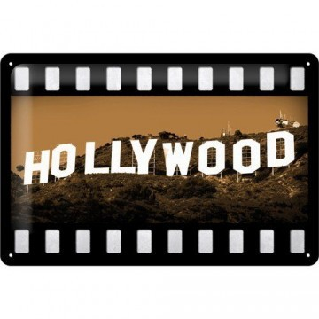Hollywood Hills Blechschild, 20 x 30 cm - 1