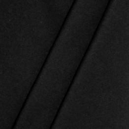 Molton Stoff, Meterware, 300cm breit, schwarz - 1