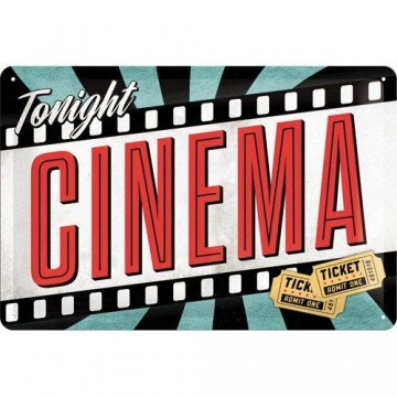Nostalgic-Art 22217 Hollywood Cinema Blechschild, 20 x 30 cm -