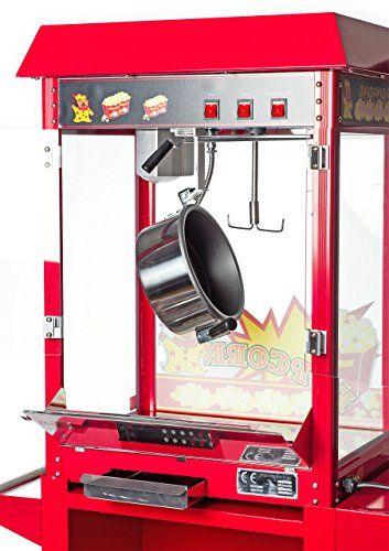 Pajoma 50115 Popcornmaschine Kirmes XXL mit Wagen, 2-teilig -