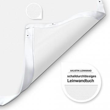 eSmart Germany Akustik Rahmen-Leinwand MIRALE | Gesamtbreite 284 cm | Darstellungsfläche 266 x 149 cm (120