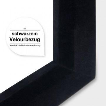 eSmart Germany MIRALE RAHMEN LEINWAND | Gesamtbreite 198cm | Darstellungsfläche 186cm x 105cm | Bildformat 16:9 | mit Vollmaskierung | Modell 2016 -