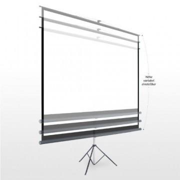 eSmart Germany Stativ Leinwand MISATI | Gesamtbreite 220 cm | Darstellungsfläche 203 x 152 cm | Bildformat 4:3 | mit Vollmaskierung | Modell 2016 -