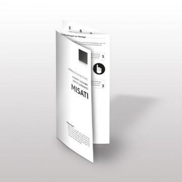 eSmart Germany Stativ Leinwand MISATI | Gesamtbreite 258cm | Darstellungsfläche 244cm x 183cm | Bildformat 4:3 | Modell 2016 -