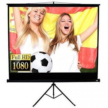 Jago Beamer Leinwand Heimkino 152 x 152 cm (Diagonale ca. 215 cm / 85 Zoll) HDTV inkl. Stativ -