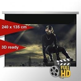 Leinwandking Rolloleinwand 240 x 135cm,Leinwand Format 16:9, Heimkino Leinwand, Beamerleinwand,3D Leinwand,Full HD Leinwand, Leinwand Beamer -