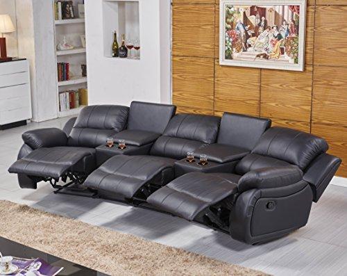 3er kino sessel aus leder mit italienischer eleganz beamerleinwand24. Black Bedroom Furniture Sets. Home Design Ideas