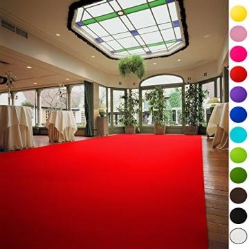 VIP Eventteppich Hochzeitsteppich - Läufer Gala Events - PODIUM | Rot | 1,00m x 6,00m -