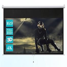 ivolum Rolloleinwand 200 x 113cm Nutzfläche | Format 16:9 | Als Heimkino-Leinwand oder Business-Leinwand einsetzbar | einfach Montage und Bedienung | Beamer-Leinwand in verschiedenen Größen erhältlich -