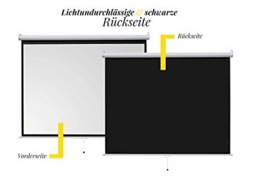 ivolum Rolloleinwand 200 x 150cm Nutzfläche | Format 4:3 | Als Heimkino-Leinwand oder Business-Leinwand einsetzbar | einfach Montage und Bedienung | Beamer-Leinwand in verschiedenen Größen erhältlich -