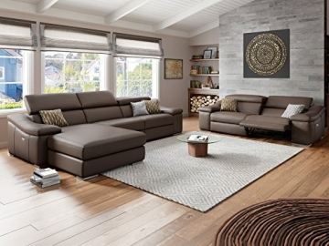 Relax Sofa Ledersofa Ledercouch Funktionssofa Funktionscouch Sofa Couch 2-Sitzer -