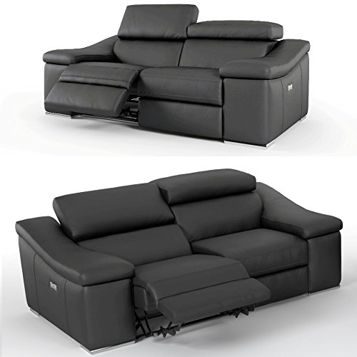 2er kinosessel relaxsofa aus hochwertigen rindsleder in schwarz beamerleinwand24. Black Bedroom Furniture Sets. Home Design Ideas