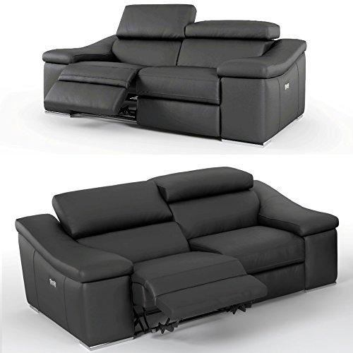 2er kinosessel relaxsofa aus hochwertigen rindsleder in schwarz beamerleinwand24. Black Bedroom Furniture Sets. Home Design Ideas