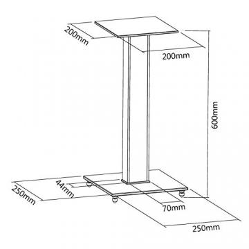 SAVONGA SCHWERLAST HIFI PA LAUTSPRECHER BOXEN Ständer Fußbodenständer #304S, Tragkraft bis 10KG -