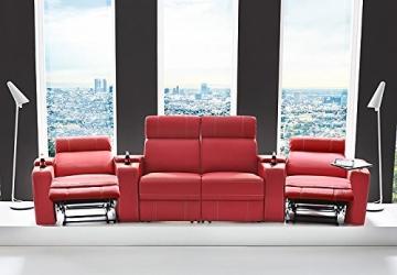 Kinosessel Kinosofa mit 4 Plätzen Cinema Heimkino Sessel Hollywood mit Relaxfunktion Staufächern und Getränkehalter - 2