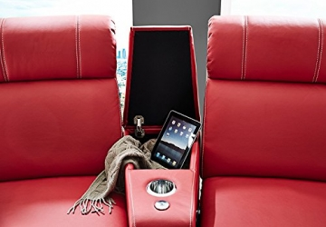 Kinosessel Kinosofa mit 4 Plätzen Cinema Heimkino Sessel Hollywood mit Relaxfunktion Staufächern und Getränkehalter - 3
