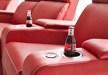 Kinosessel Kinosofa mit 4 Plätzen Cinema Heimkino Sessel Hollywood mit Relaxfunktion Staufächern und Getränkehalter - 5
