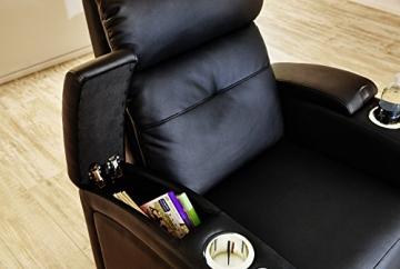Wohnorama Houston 1er Fernsehsessel Cinema Sessel Heimkino Kinosessel mit Getränkehalter by - 5