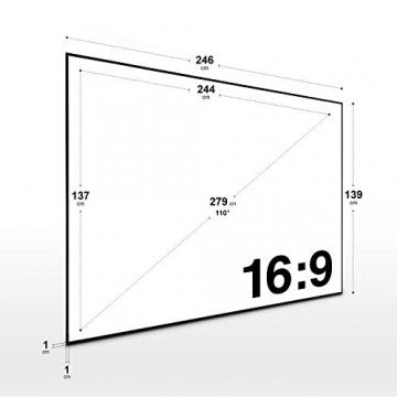 ESMART Expert UKD Rahmen-Leinwand [Größenauswahl] 244 x 137 cm (110